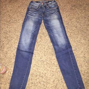 dark blue american eagle jeans